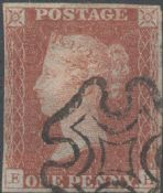 1841 1d Red SG8 Plate 18 'EH'